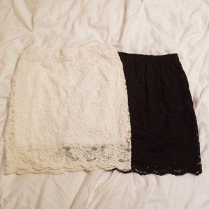 2 Lace Skirts